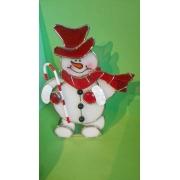 Vahva lumememm küünlaalus klaas vitraaz