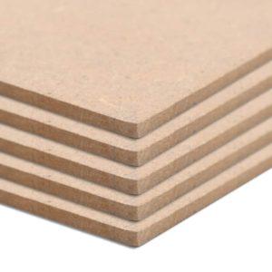 vidaXL MDF-plaat 10 tk ristkülikukujuline 120 x 60 cm 2,5 mm