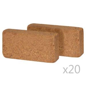 vidaXL kookostabletid 40 tk 650 g 20 x 10 x 4 cm